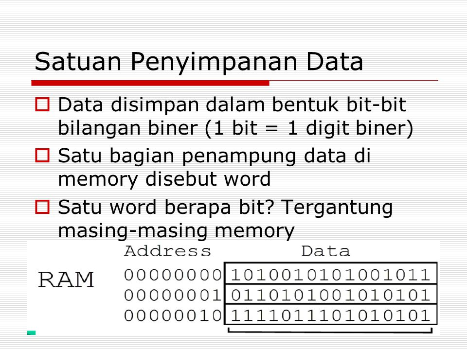 Satuan Penyimpanan Data