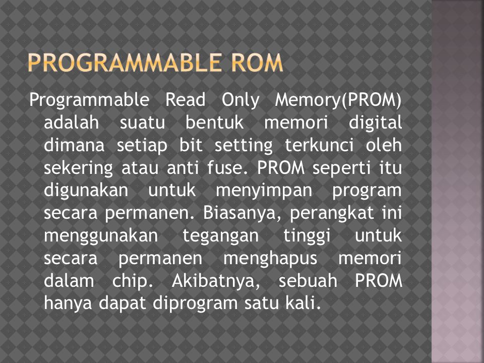 Programmable rom