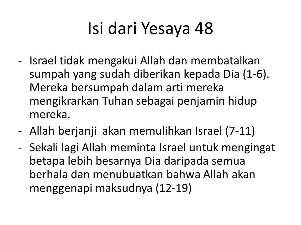 Isi dari Yesaya 48