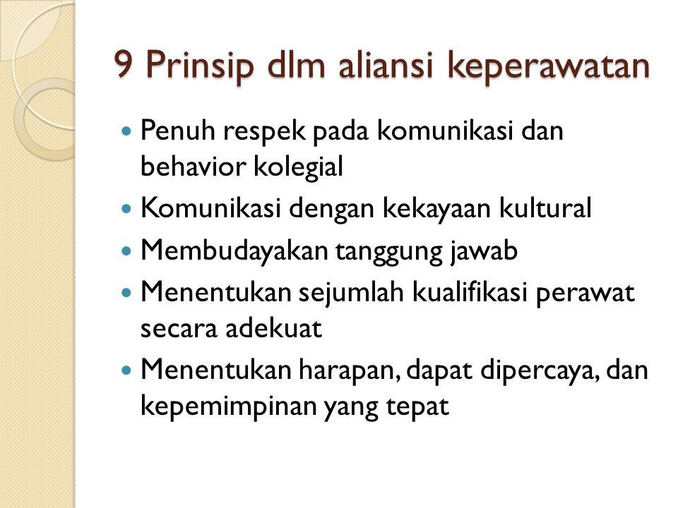 9 Prinsip dlm aliansi keperawatan