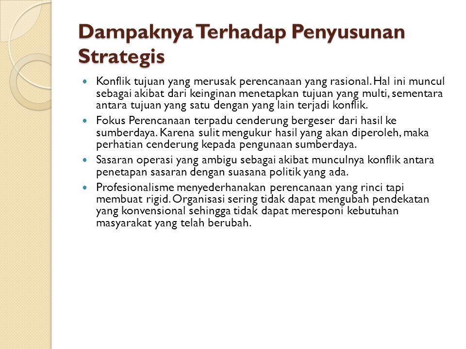 Dampaknya Terhadap Penyusunan Strategis