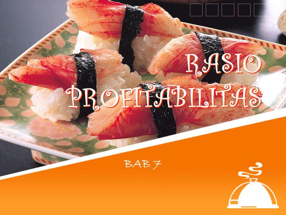 RASIO PROFITABILITAS BAB 7