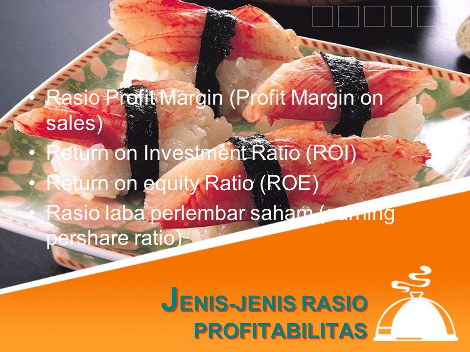 JENIS-JENIS RASIO PROFITABILITAS