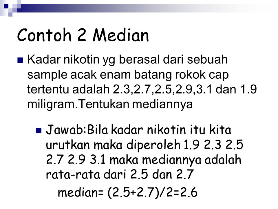 Contoh 2 Median