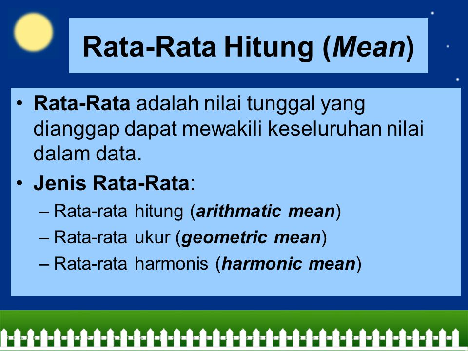 Rata-Rata Hitung (Mean)