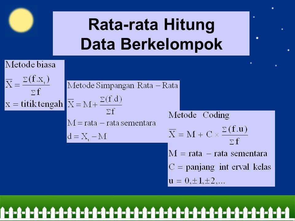 Rata-rata Hitung Data Berkelompok