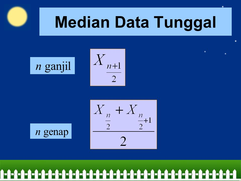 Median Data Tunggal n ganjil n genap