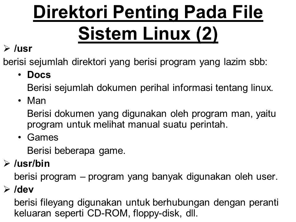 Direktori Penting Pada File Sistem Linux (2)