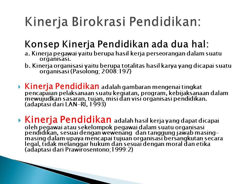 Kinerja Birokrasi Pendidikan: