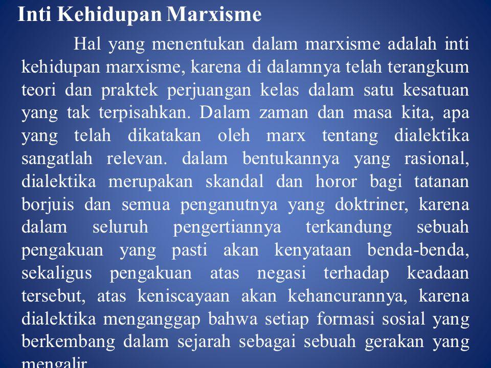 Inti Kehidupan Marxisme