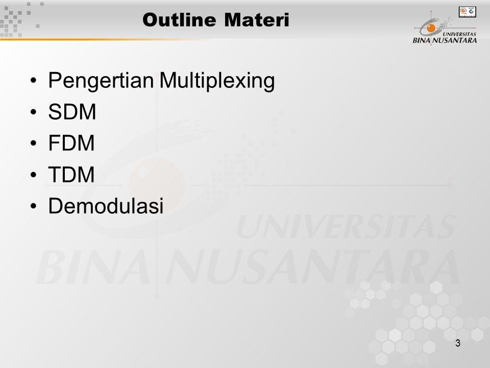 Pengertian Multiplexing SDM FDM TDM Demodulasi