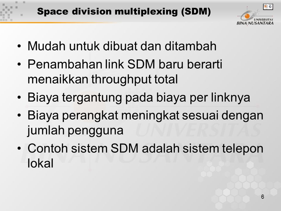 Space division multiplexing (SDM)