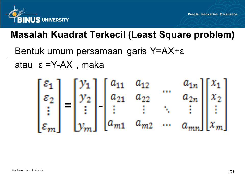 Masalah Kuadrat Terkecil (Least Square problem)