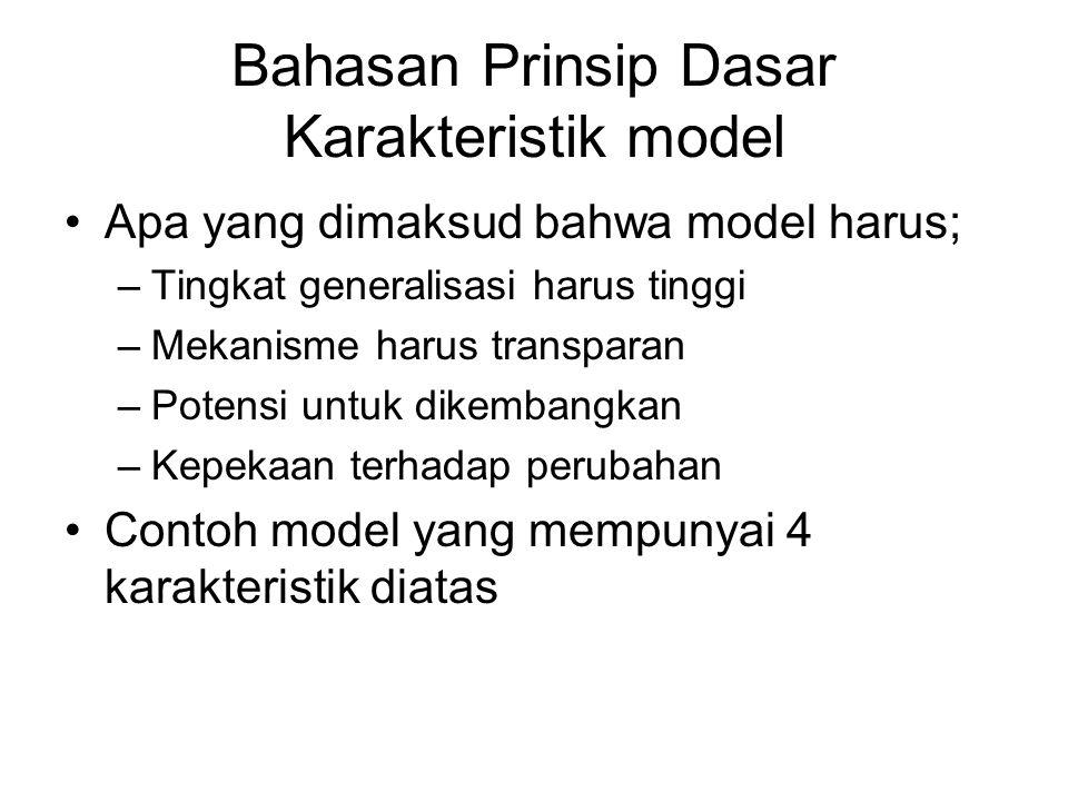 Bahasan Prinsip Dasar Karakteristik model