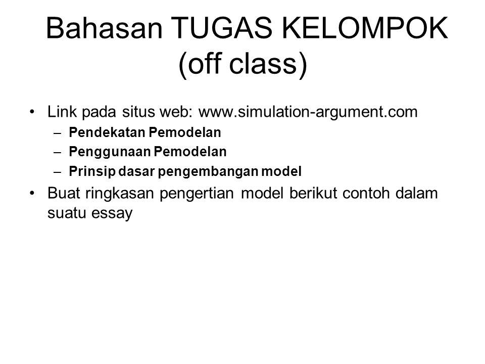 Bahasan TUGAS KELOMPOK (off class)