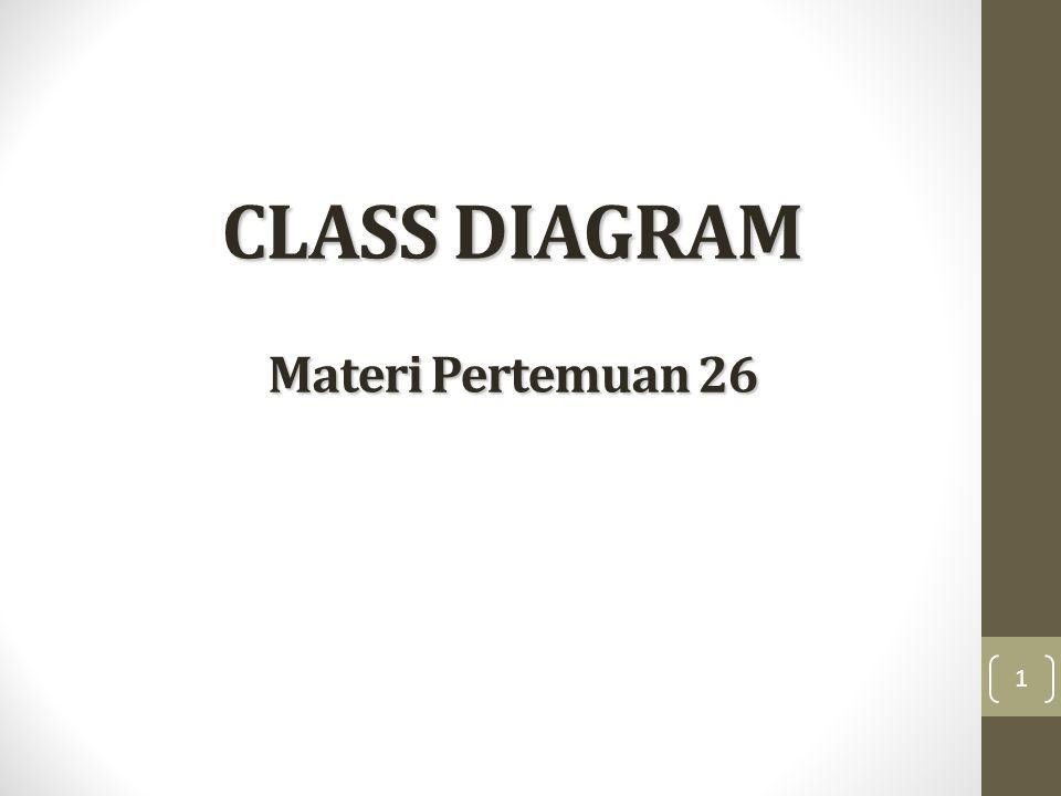 CLASS DIAGRAM Materi Pertemuan 26