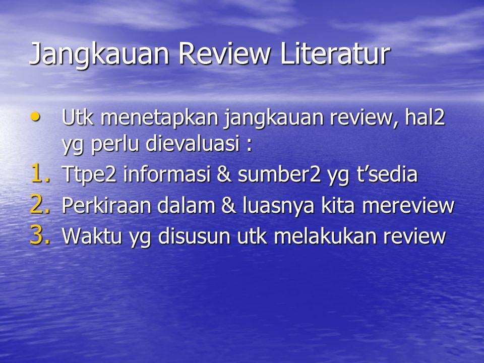 Jangkauan Review Literatur