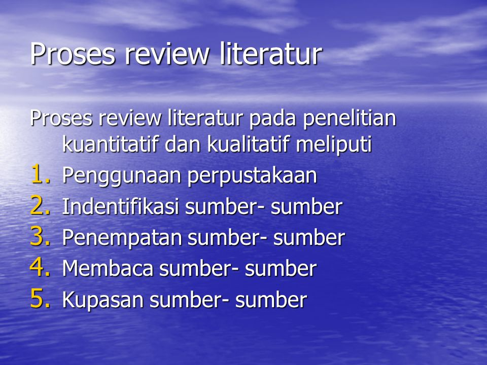 Proses review literatur