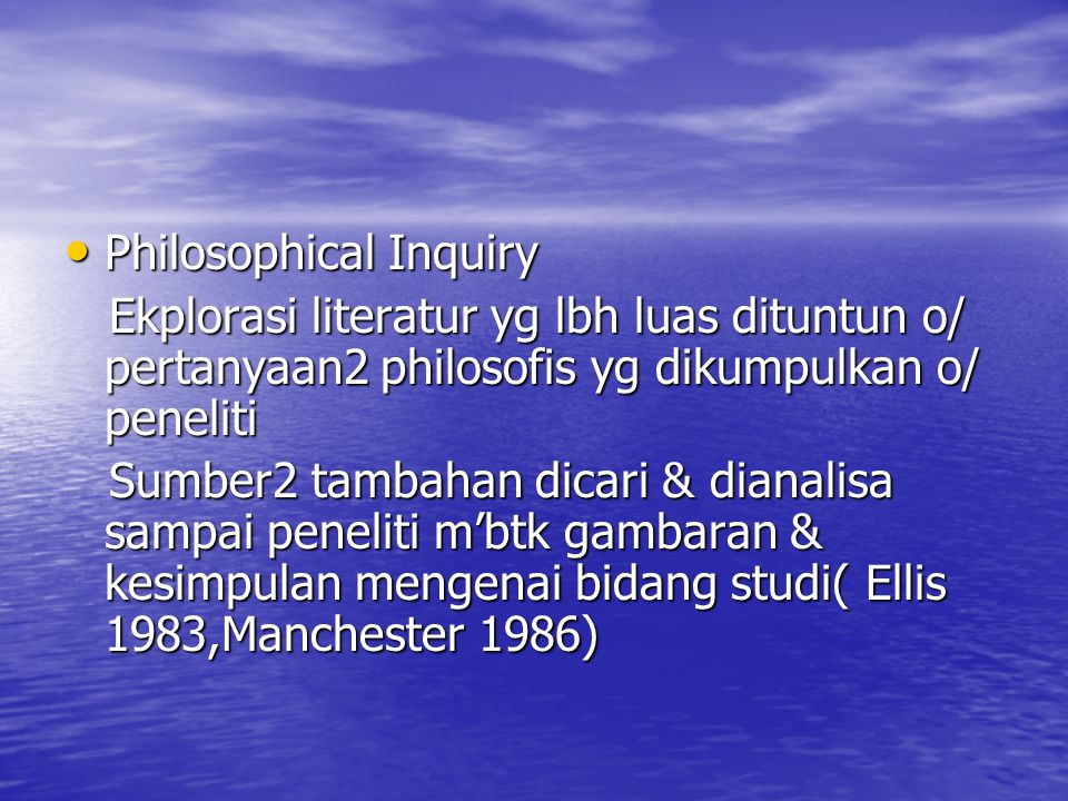 Philosophical Inquiry