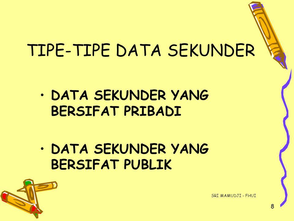 TIPE-TIPE DATA SEKUNDER