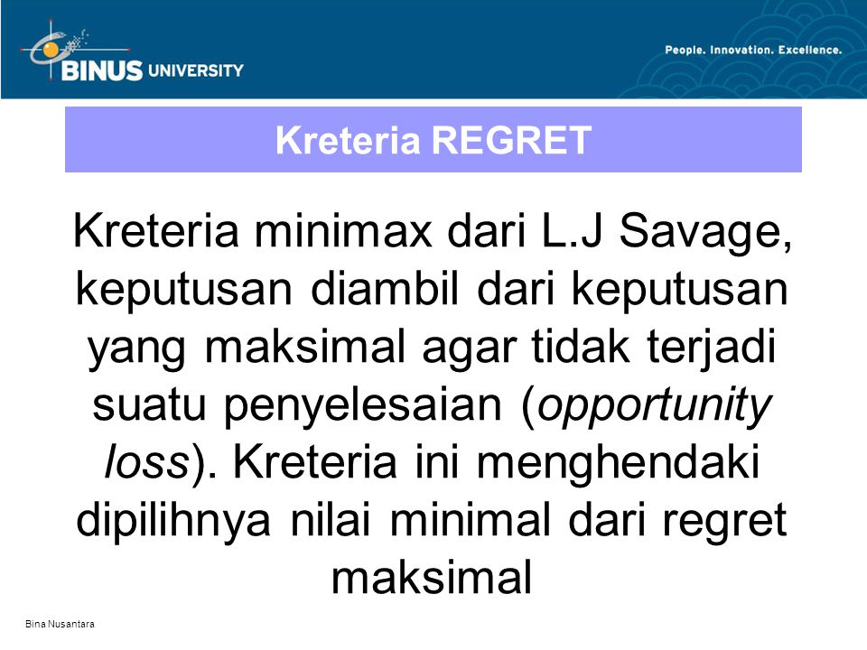 Kreteria REGRET