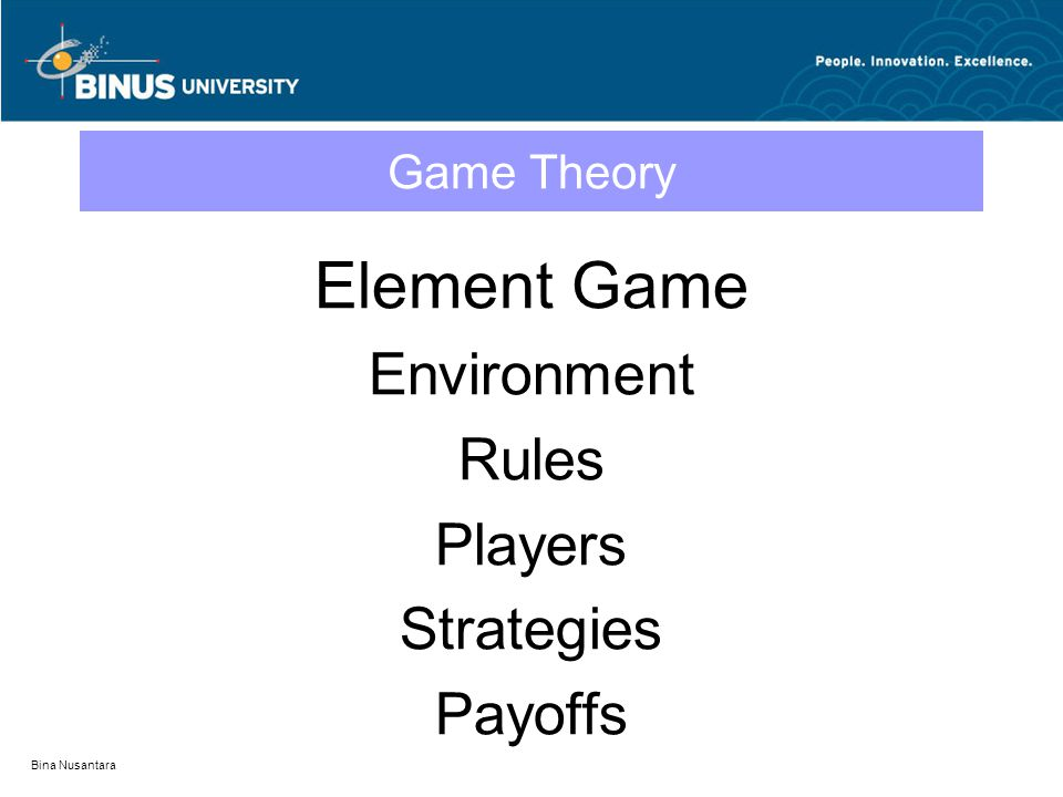 Element Game Environment Rules Players Strategies Payoffs