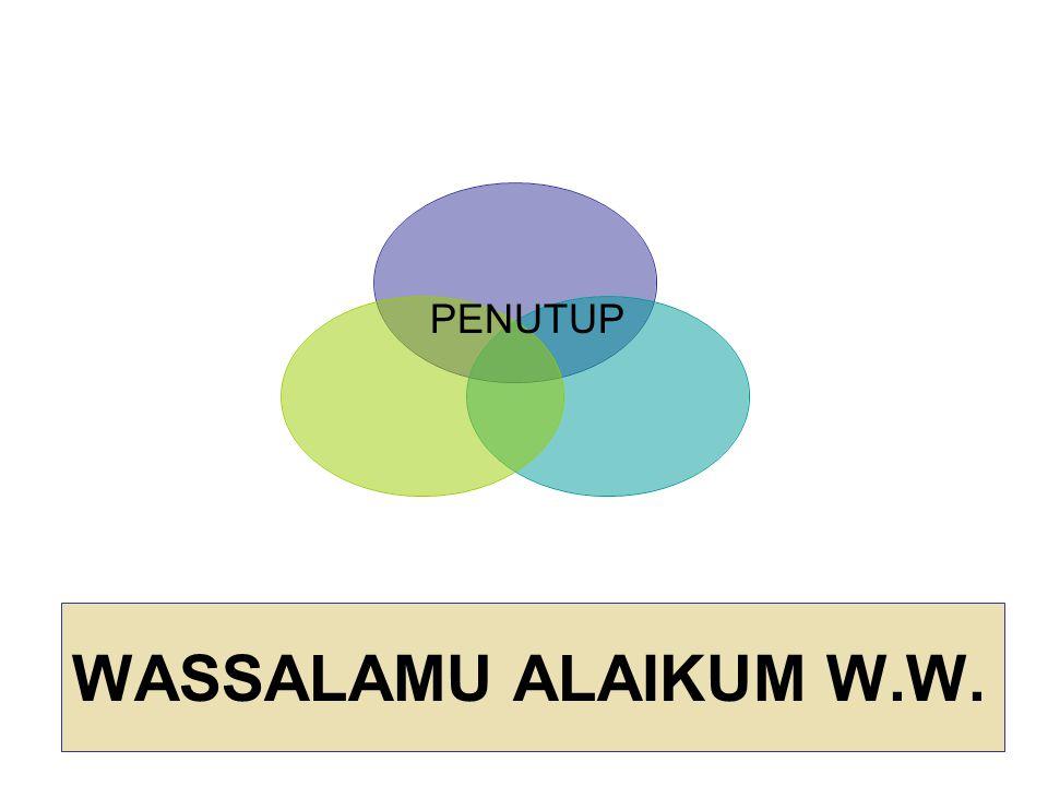 PENUTUP WASSALAMU ALAIKUM W.W.