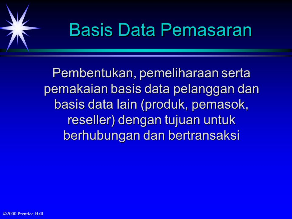Basis Data Pemasaran