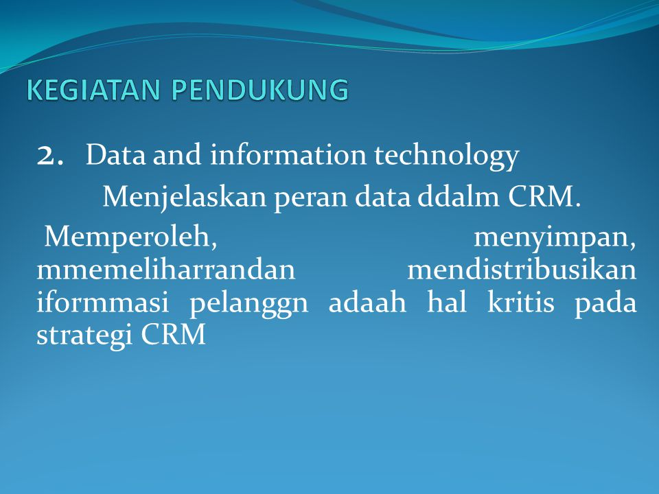 2. Data and information technology