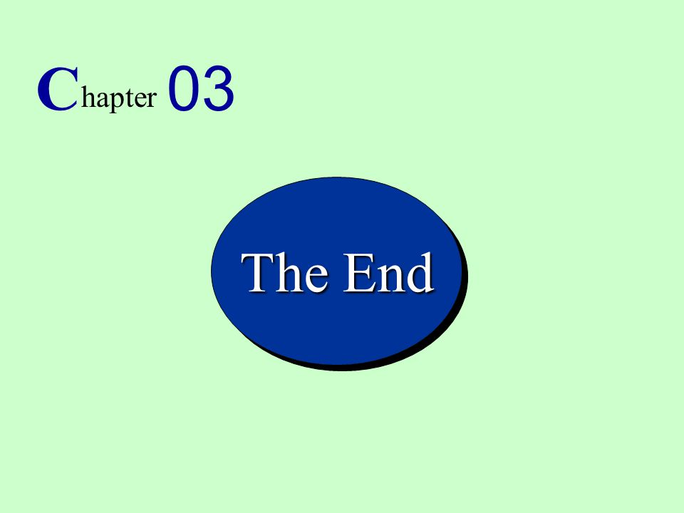 C 03 hapter The End