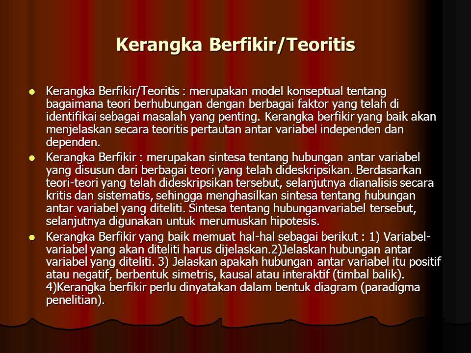 Kerangka Berfikir/Teoritis