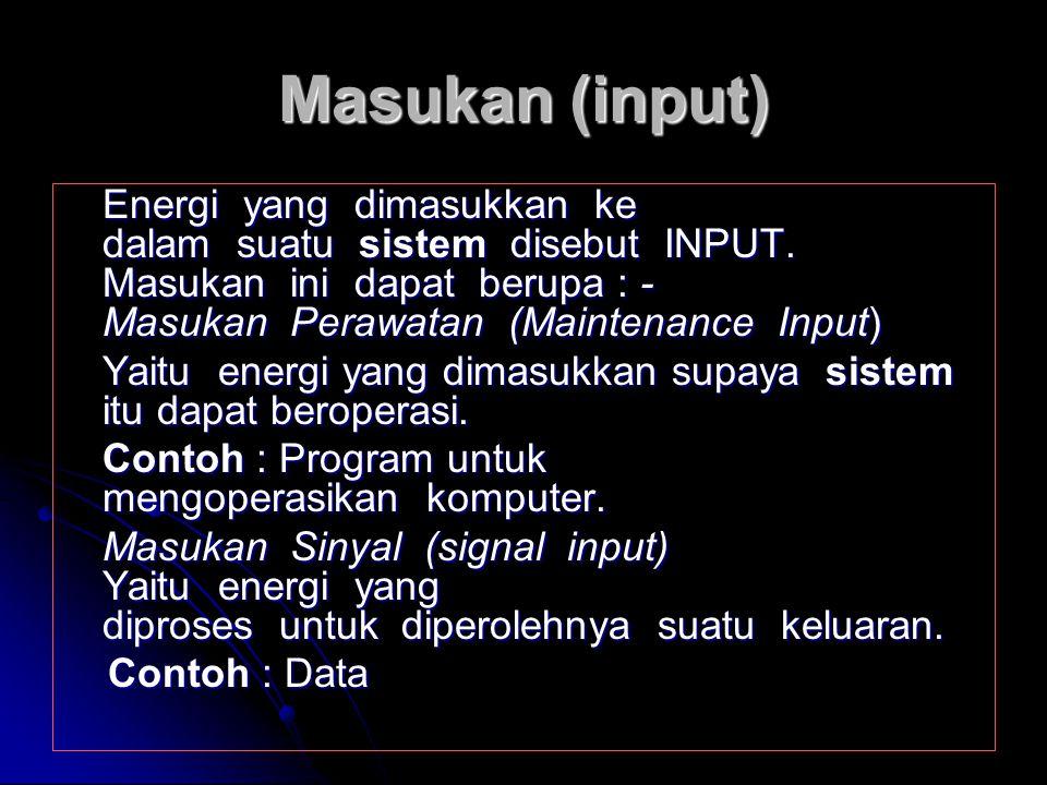 Masukan (input)