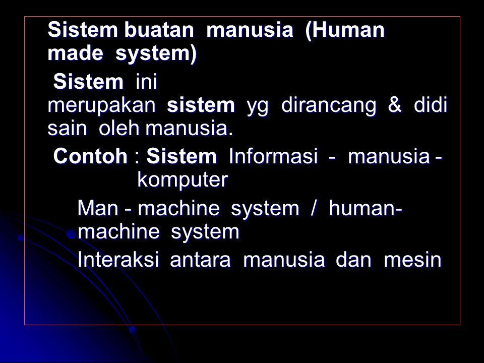 Sistem buatan manusia (Human made system)