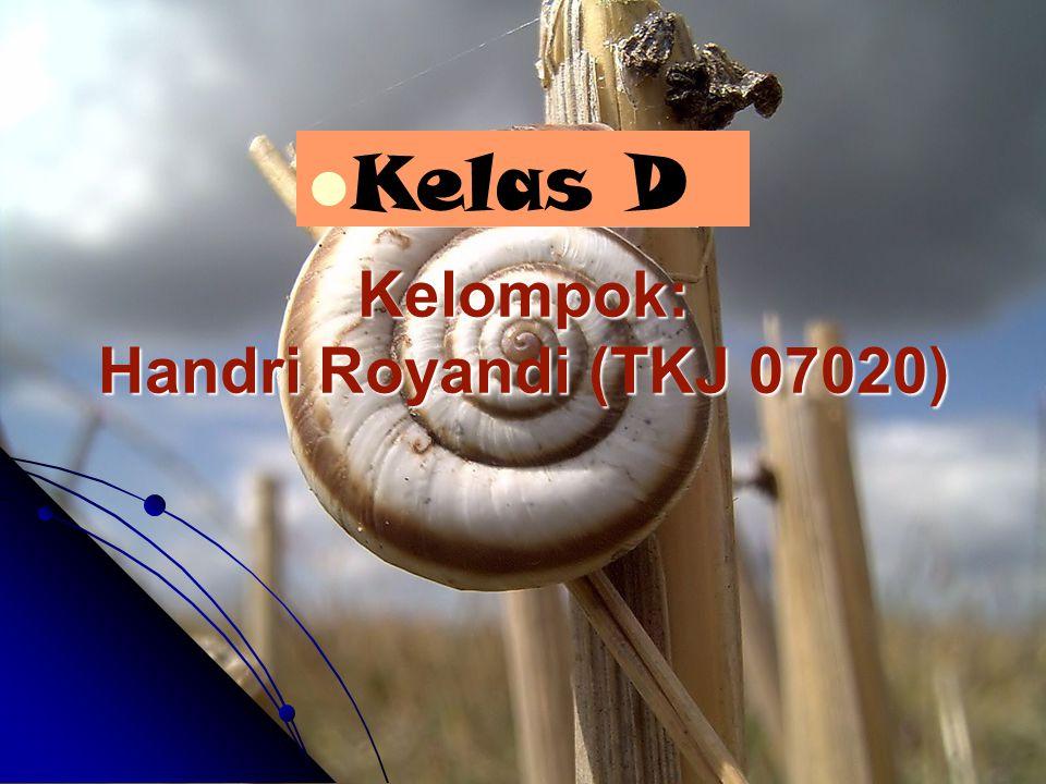 Kelompok: Handri Royandi (TKJ 07020)