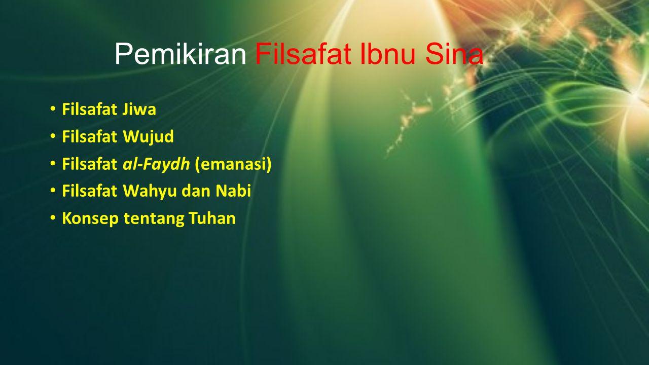 Pemikiran Filsafat Ibnu Sina