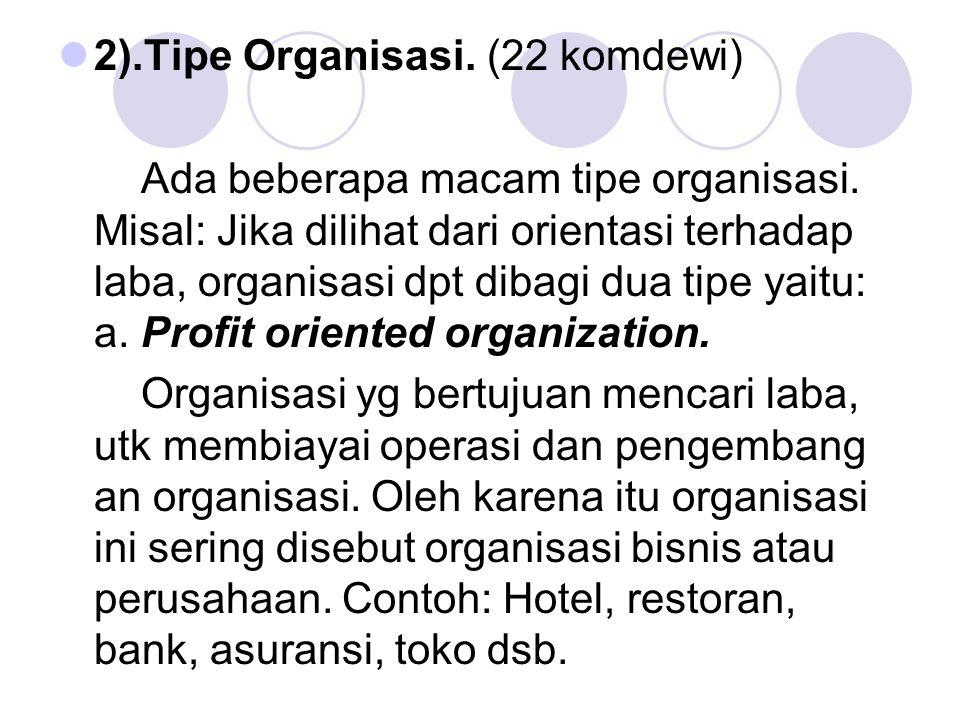 2).Tipe Organisasi. (22 komdewi)