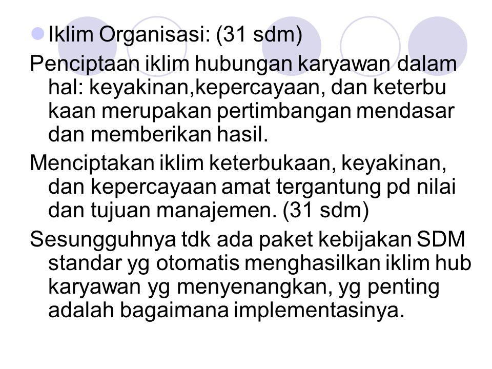 Iklim Organisasi: (31 sdm)