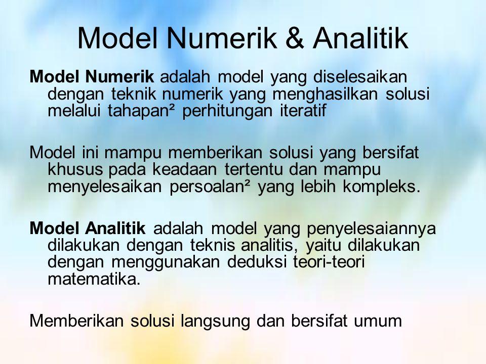Model Numerik & Analitik