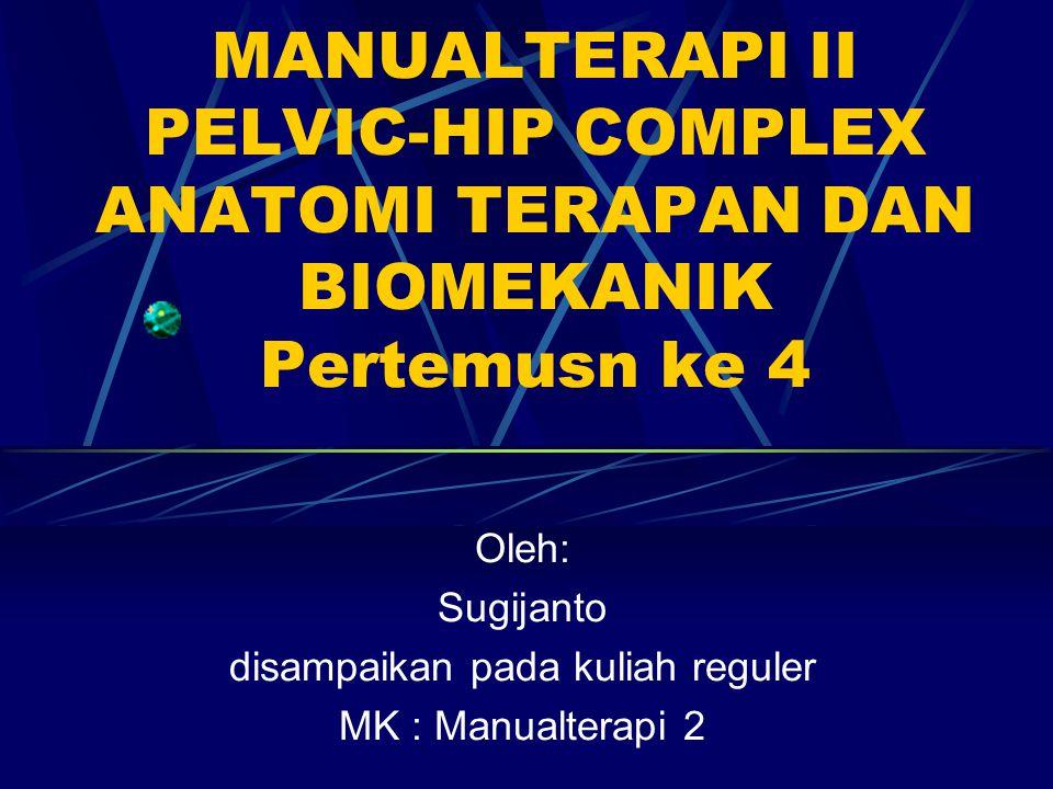 Oleh: Sugijanto disampaikan pada kuliah reguler MK : Manualterapi 2