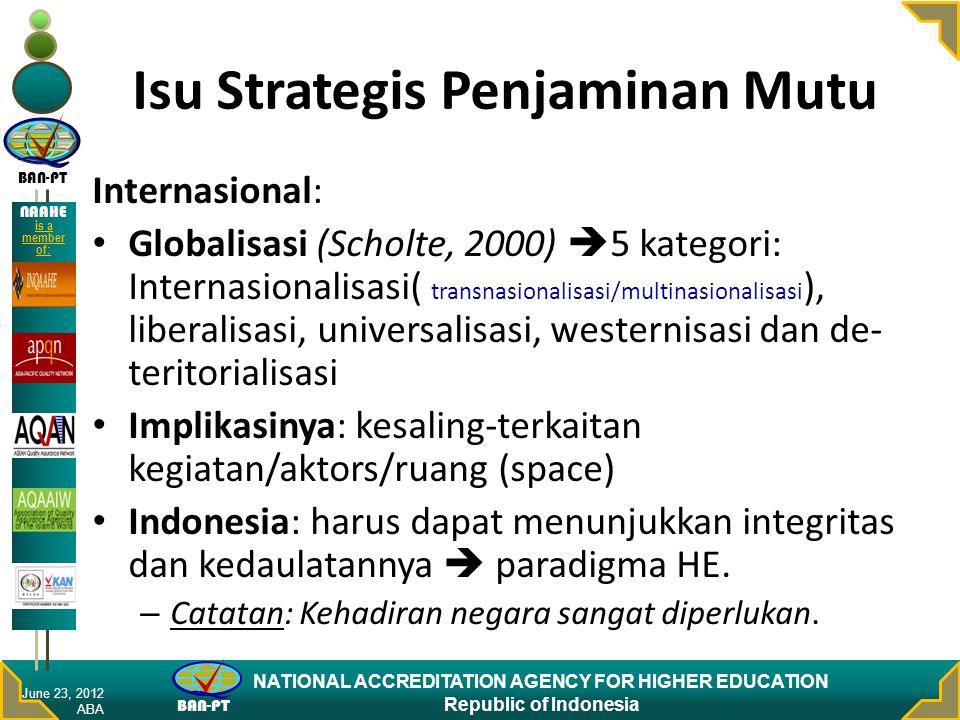 Isu Strategis Penjaminan Mutu