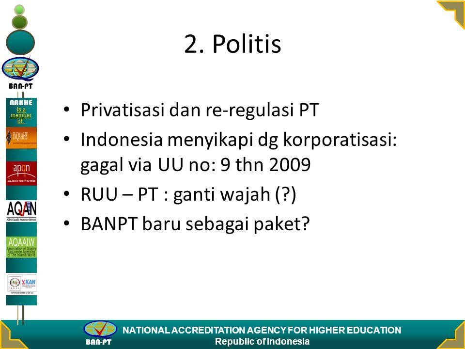 2. Politis Privatisasi dan re-regulasi PT