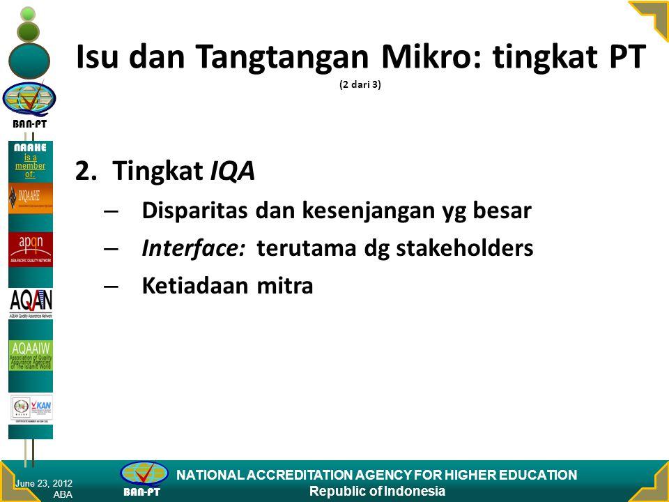 Isu dan Tangtangan Mikro: tingkat PT (2 dari 3)