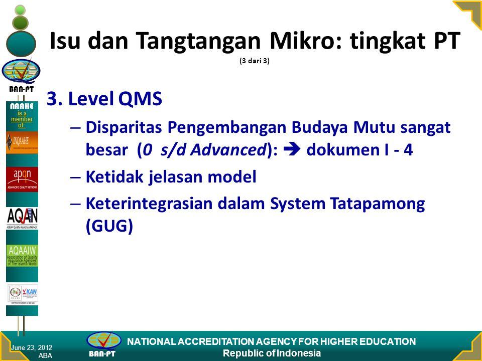 Isu dan Tangtangan Mikro: tingkat PT (3 dari 3)