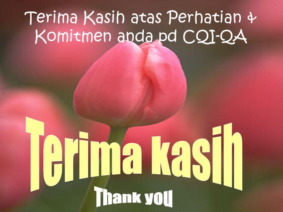 Terima Kasih atas Perhatian & Komitmen anda pd CQI-QA