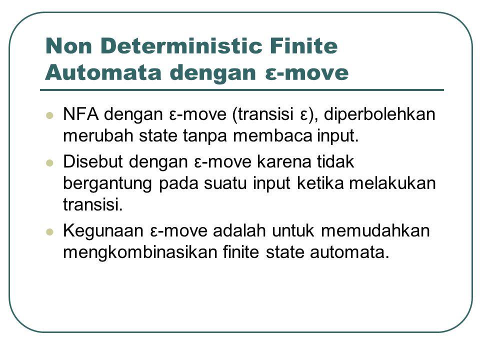 Non Deterministic Finite Automata dengan ε-move