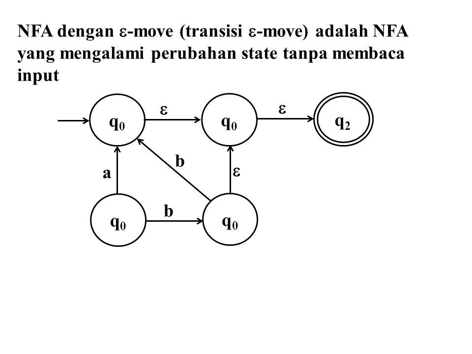 NFA dengan -move (transisi -move) adalah NFA