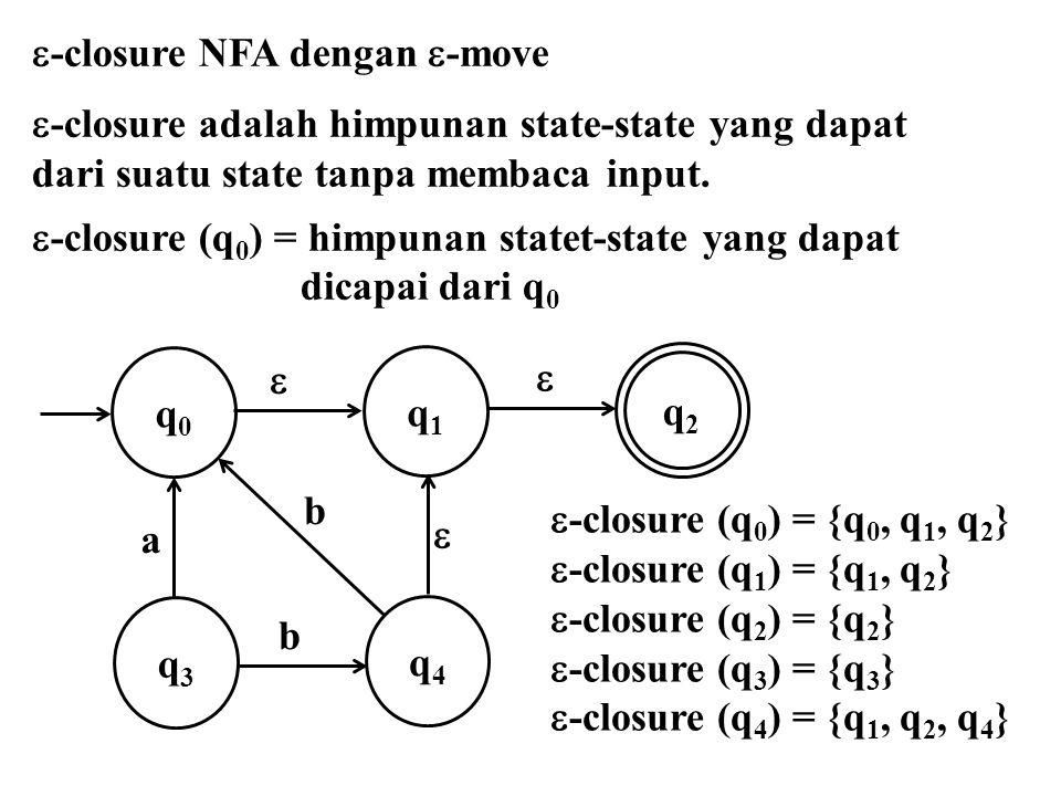 -closure NFA dengan -move