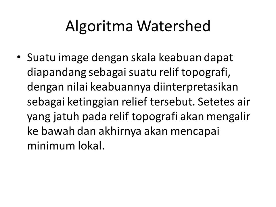 Algoritma Watershed