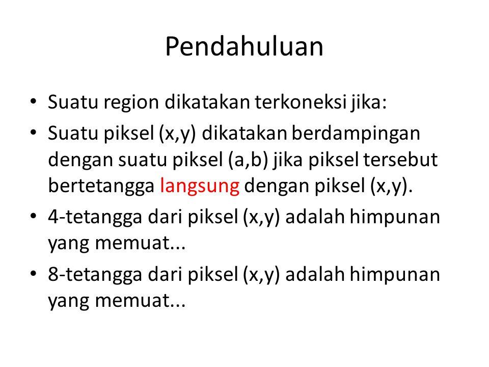Pendahuluan Suatu region dikatakan terkoneksi jika:
