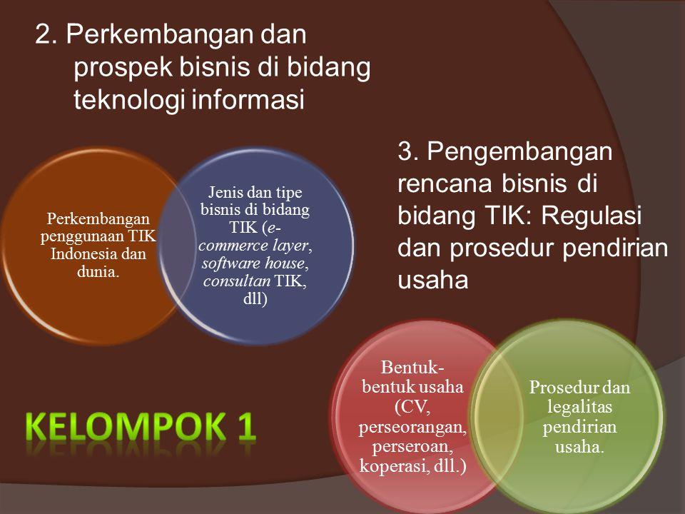 2. Perkembangan dan prospek bisnis di bidang teknologi informasi